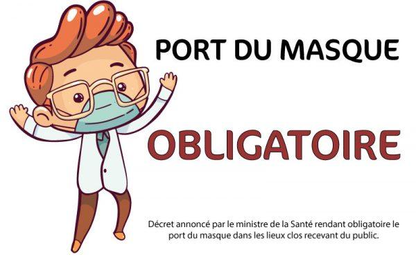 Masque Obligatoire chez CPVR à partir du 17 juillet 2020